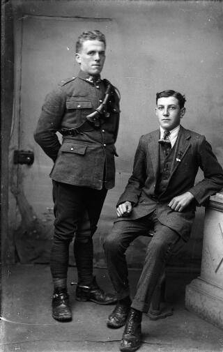 Soldier & civilian