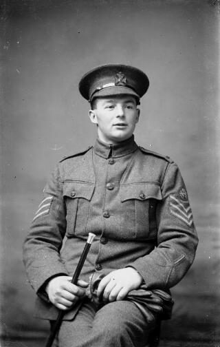 Sergeant with wound stripe.
