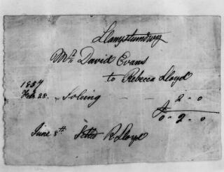 Copi o fesur wedi'i ysgrifennu yn llaw David Evans, Llanystumdwy, dyddiad Chwefror 1857 at Rebecca Lloyd. Fe gytunwyd ar y mesur ar yr 8fed o Fehefin.