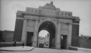 Western entrance of the Menin Gate, Ypres.